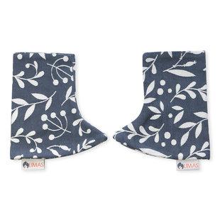 Limas teething pads Flora Cool Grey
