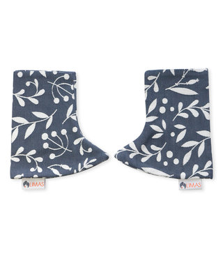 Limas teething pads Flora Cool Grey