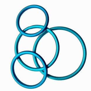 Slingringen turquoise mat