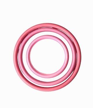 Slingringen roze mat