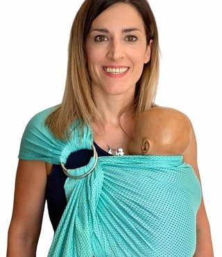 Quokkababy ringsling Cool Mesh Mint