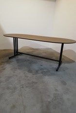 opsmuk ovalen tafel bruin