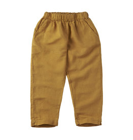 Mingo linen trouser spruce yellow