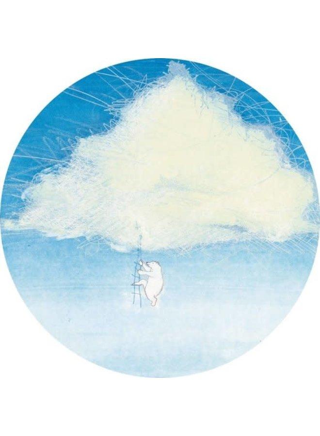 Behangcirkel Climbing the Clouds, ø 190 cm