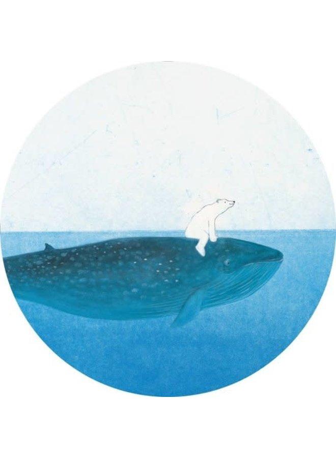 Behangcirkel Riding the Whale, ø 190 cm