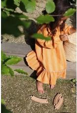 Daily Brat Ava linen ruffle dress canyon clay