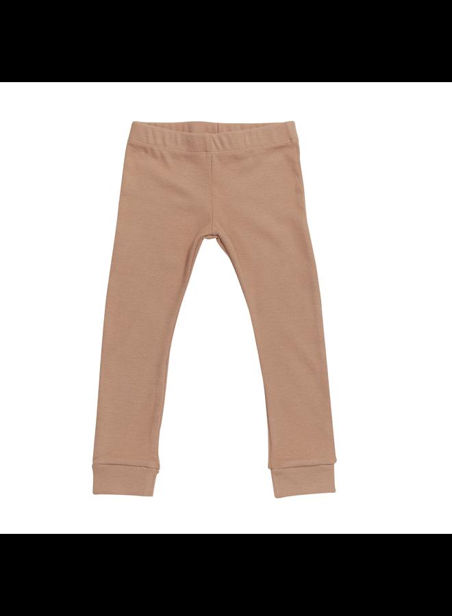 Legging - soft rib - Toffee Blush