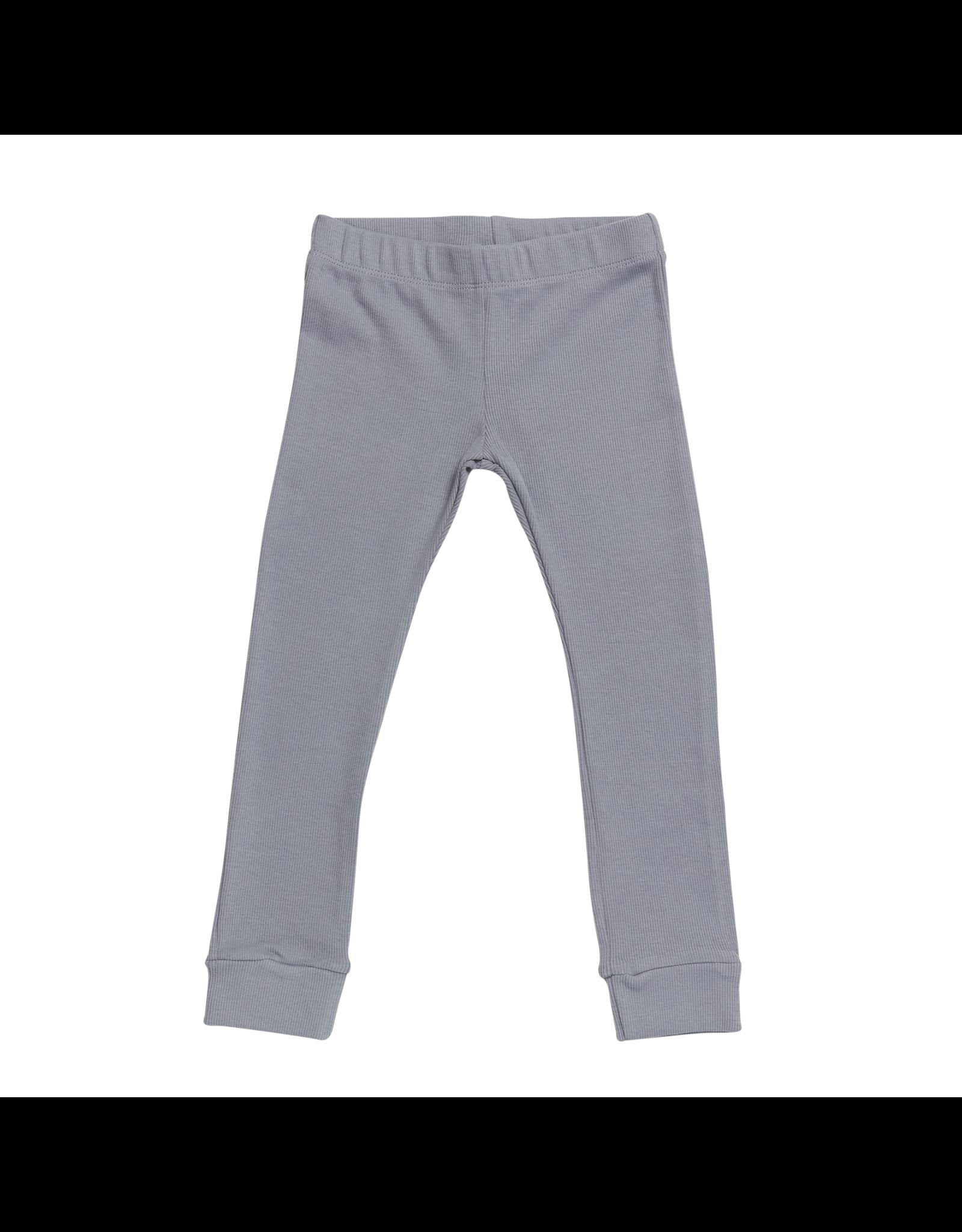 Blossom Kids Legging - soft rib - Blue Grey