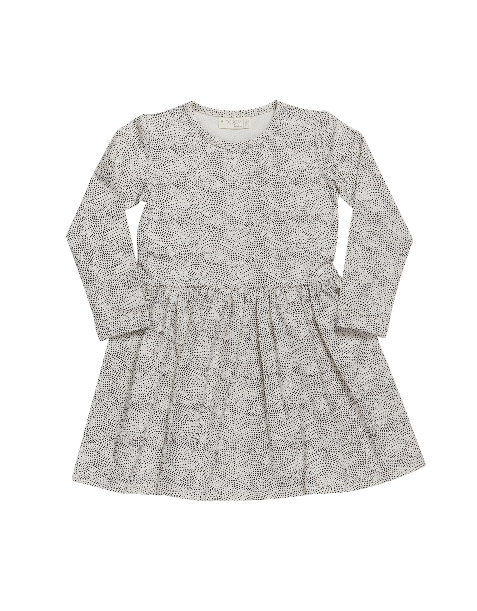 Blossom Kids Dress dotted waves - Chocolate Brown