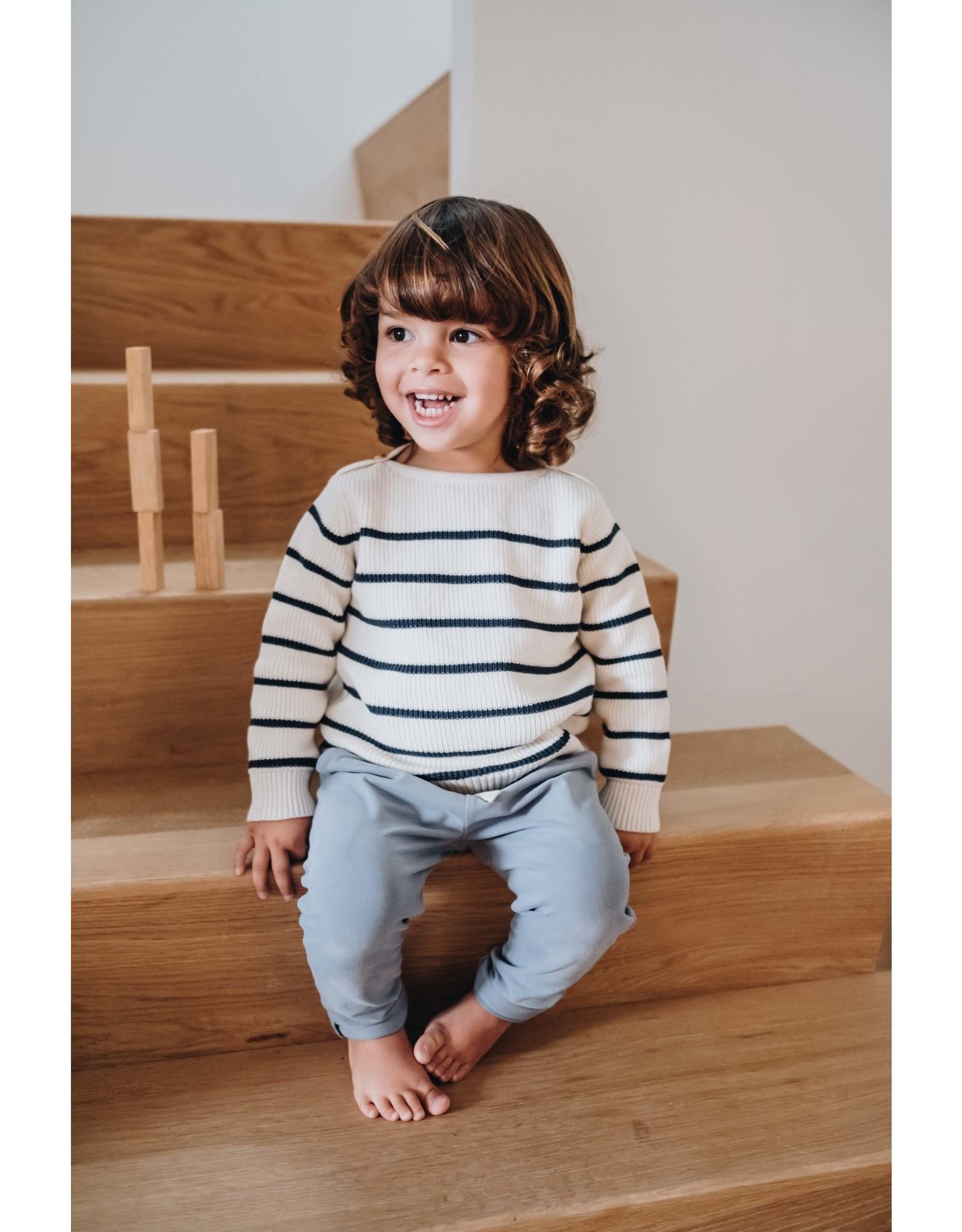 Blossom Kids Jumper knitted stripes - Midnight Blue