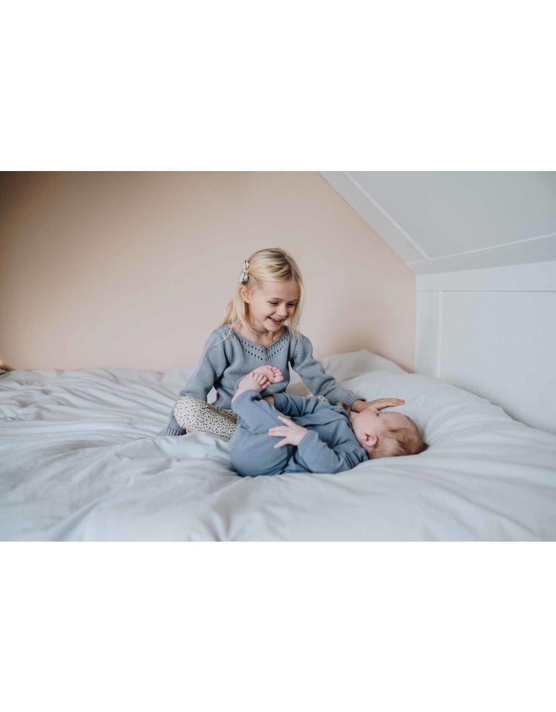 Blossom Kids Jumper knitted Ajour - Misty Grey