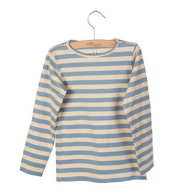 Little Hedonist Longsleeve Elena Blue Fog striped