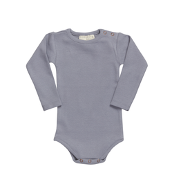 Blossom Kids Body Long Sleeve - soft rib - Blue Grey