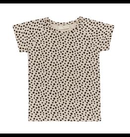 Blossom Kids Raglan short sleeve shirt - Animal Dot - Soft Sand