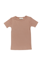 Blossom Kids Short sleeve shirt - soft rib - Toffee Blush