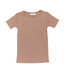 Blossom Kids Shortsleeve shirt - soft rib - Toffee Blush