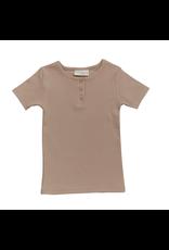 Blossom Kids Short sleeve shirt - soft rib - Warm Sand