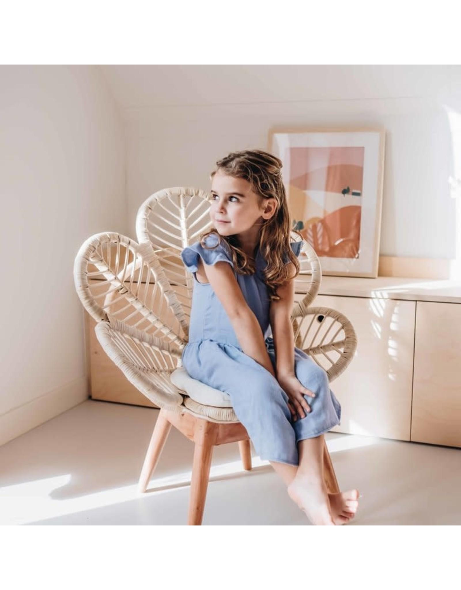Blossom Kids Dress muslin - Lilac Blue