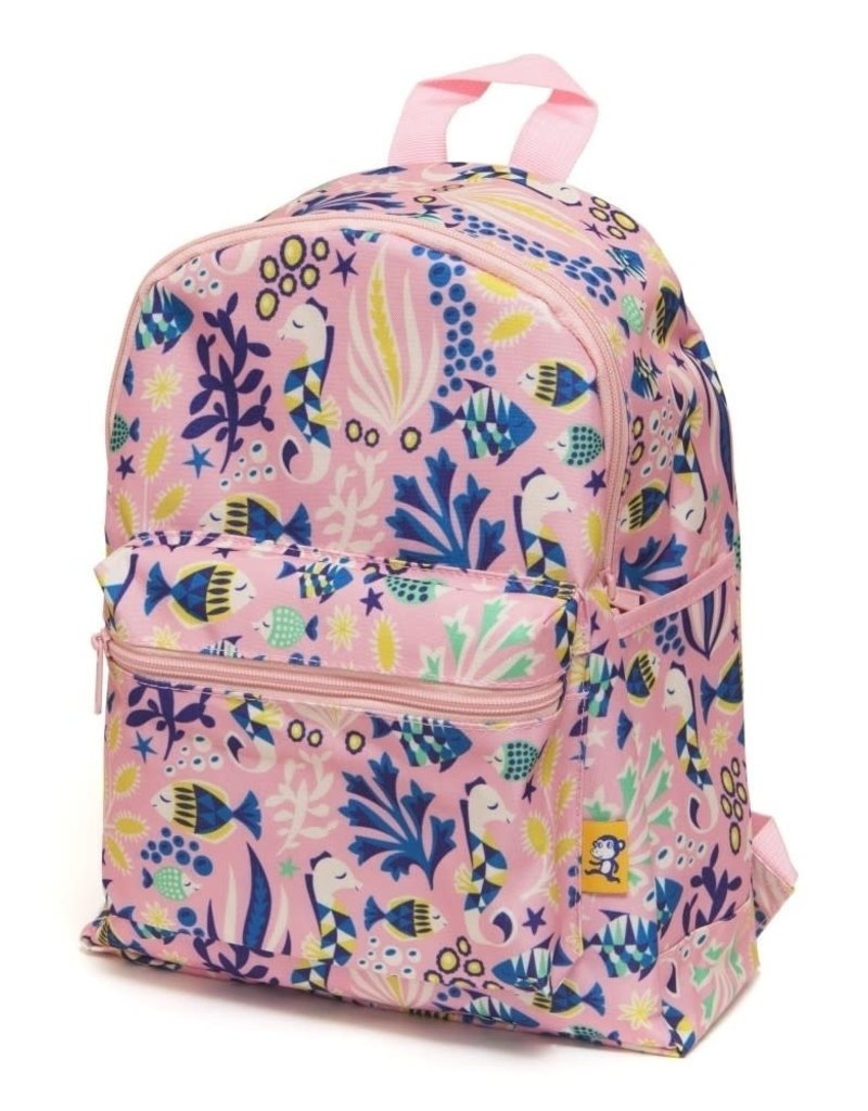 Petit Monkey Backpack under the sea pink