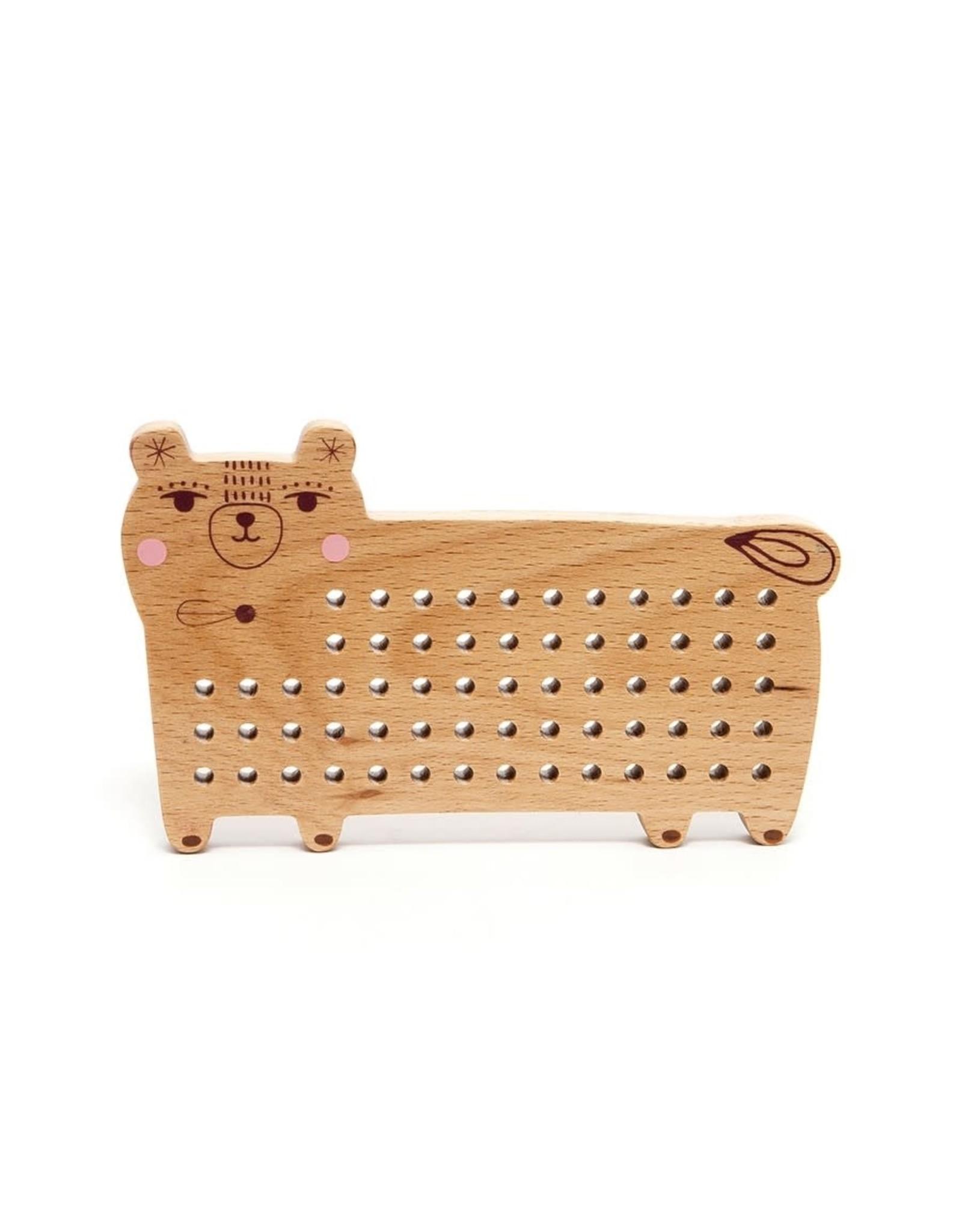 Petit Monkey Wooden cross stitch bear