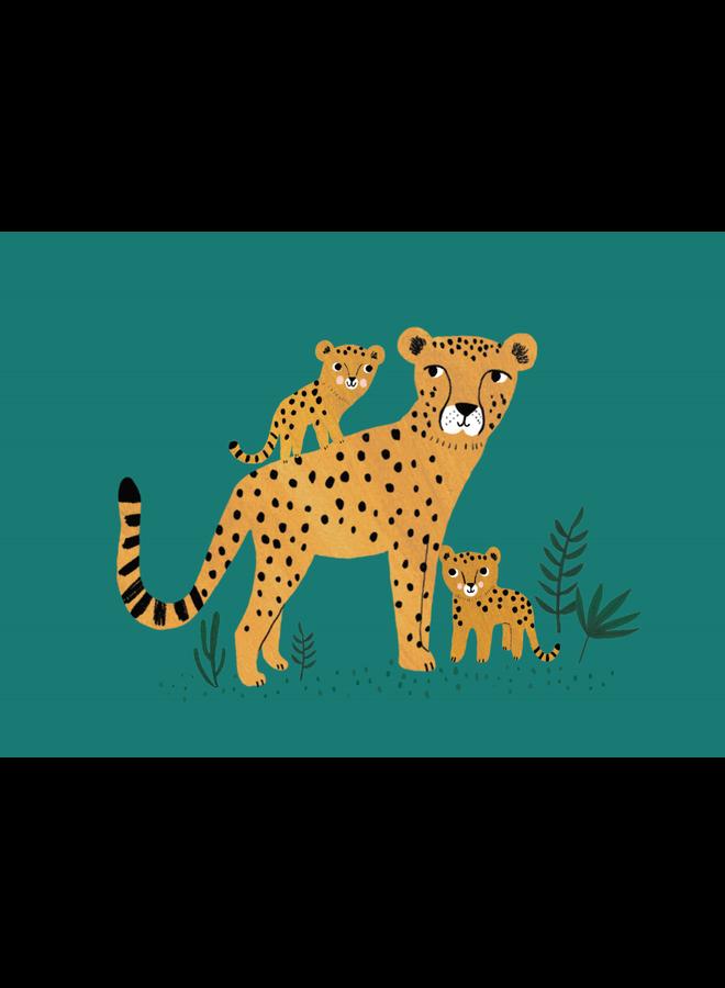Wenskaart Cheetah