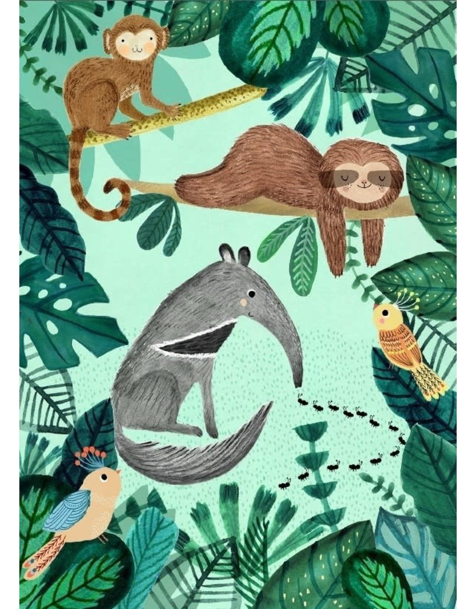 Petit Monkey Wenskaart Anteater