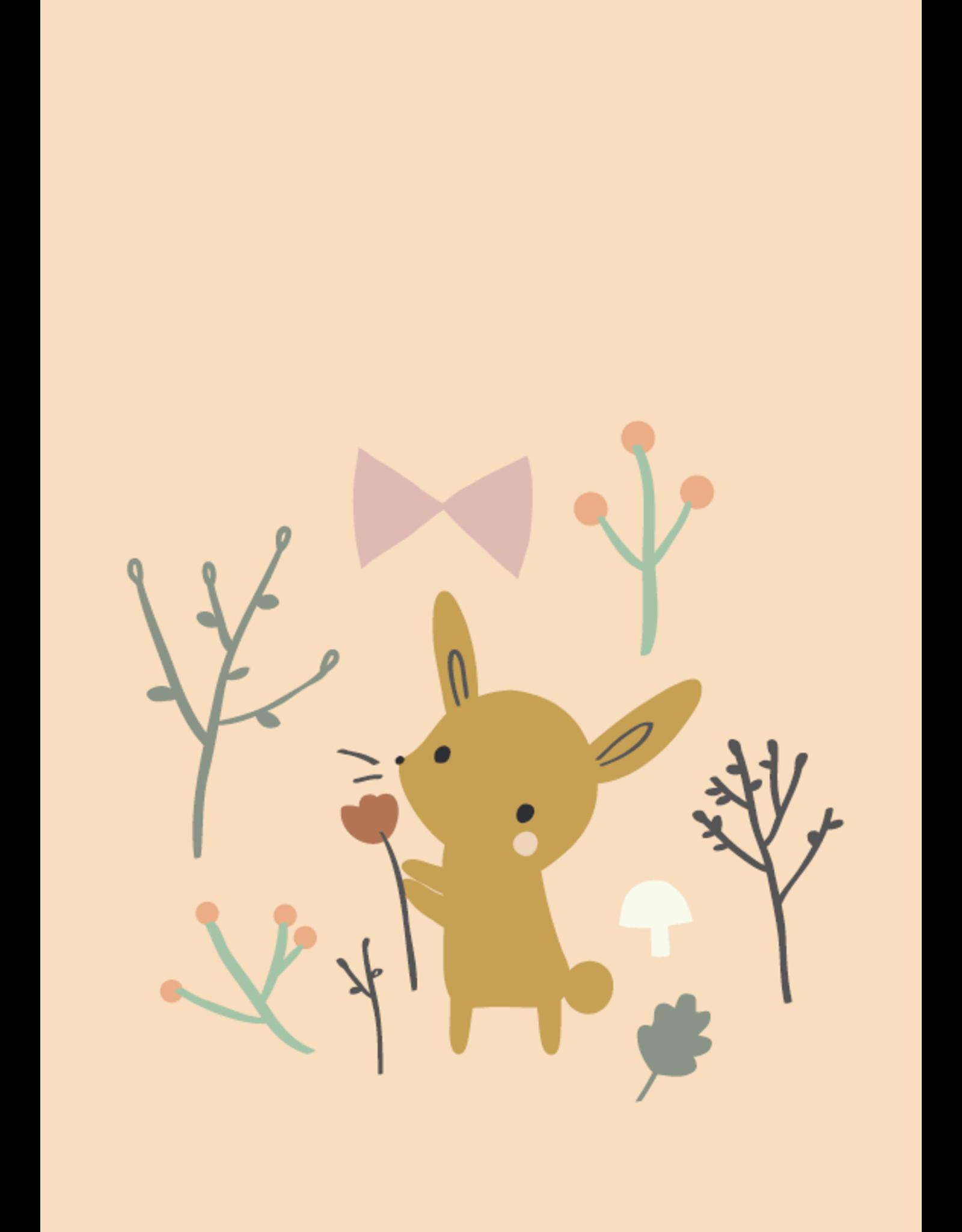 Petit Monkey Wenskaart bunny