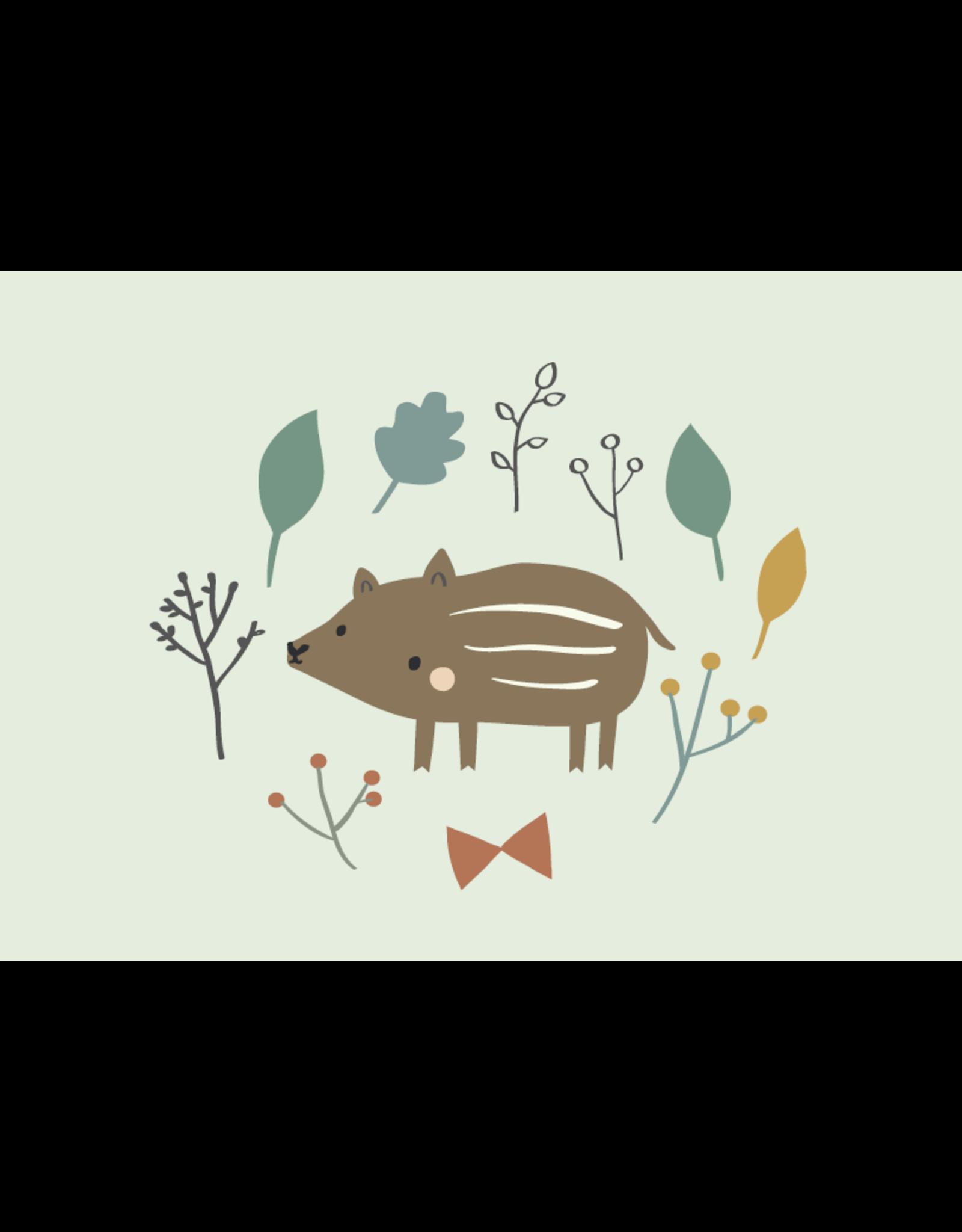 Petit Monkey Wenskaart baby boar
