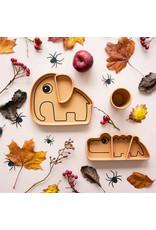 Done by Deer Antislip siliconen mini mok - mosterd