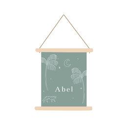 studiobydiede Textielposter Abel mint