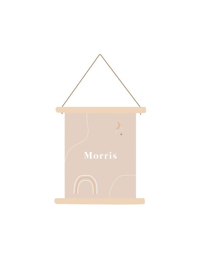Textielposter Morris