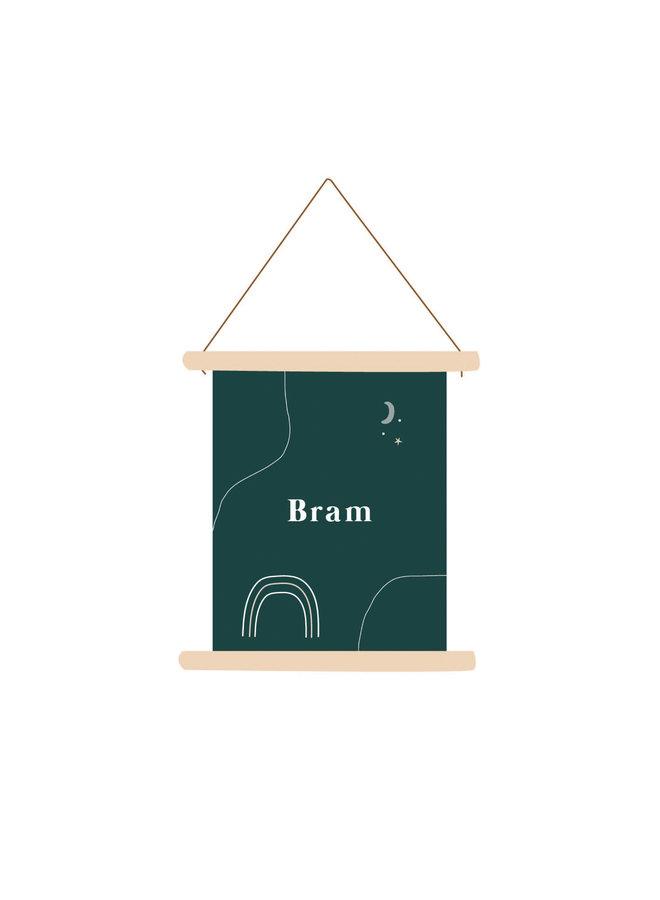Textielposter Bram