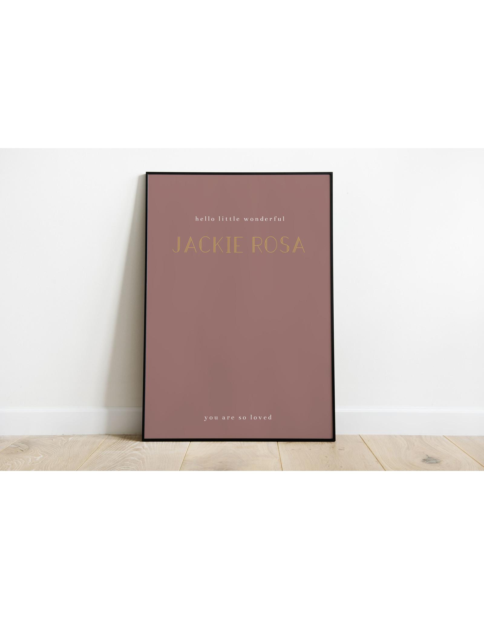 studiobydiede Poster Jackie Rosa