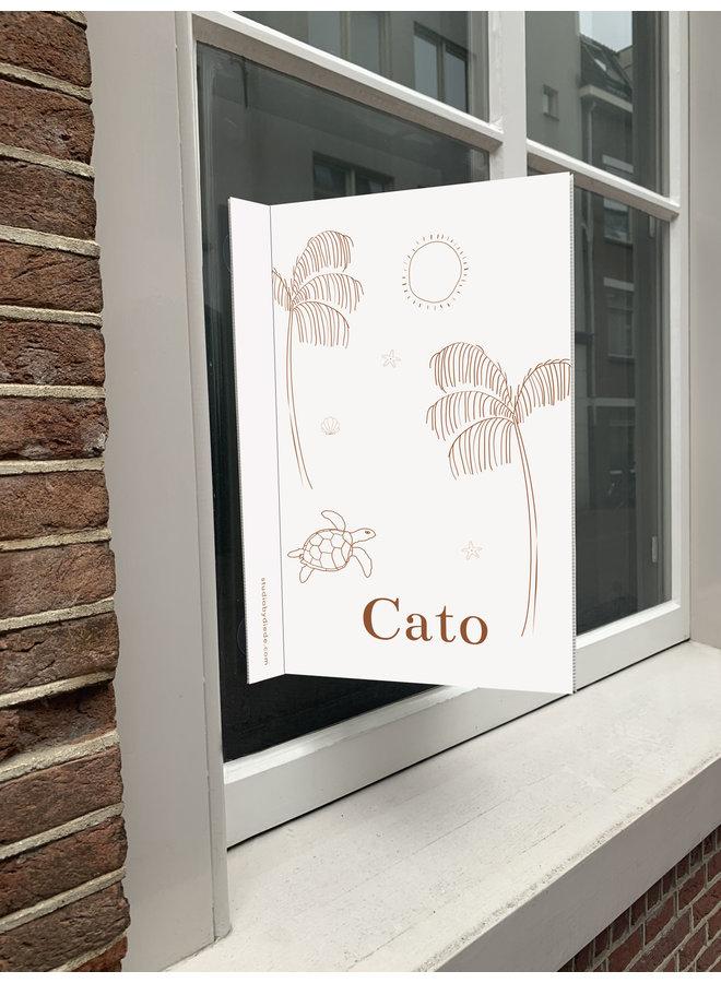 Geboortebord Cato