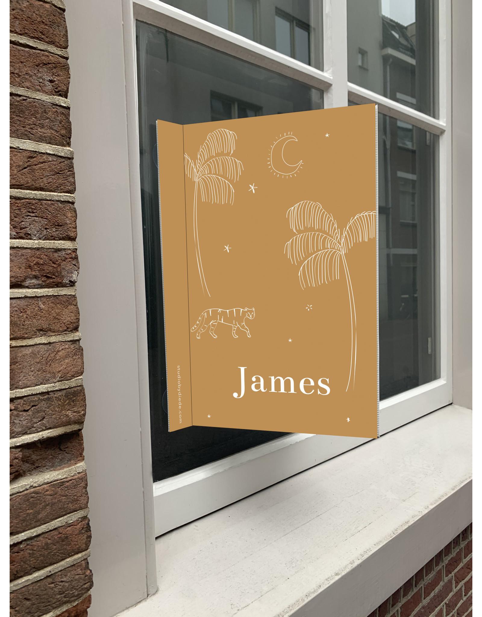 studiobydiede Geboortebord James