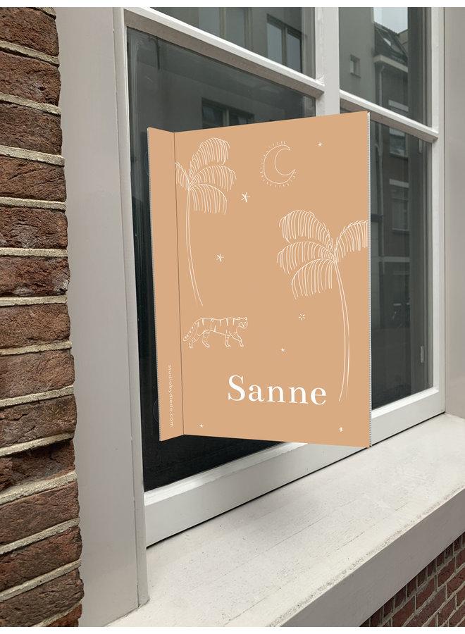 Geboortebord Sanne