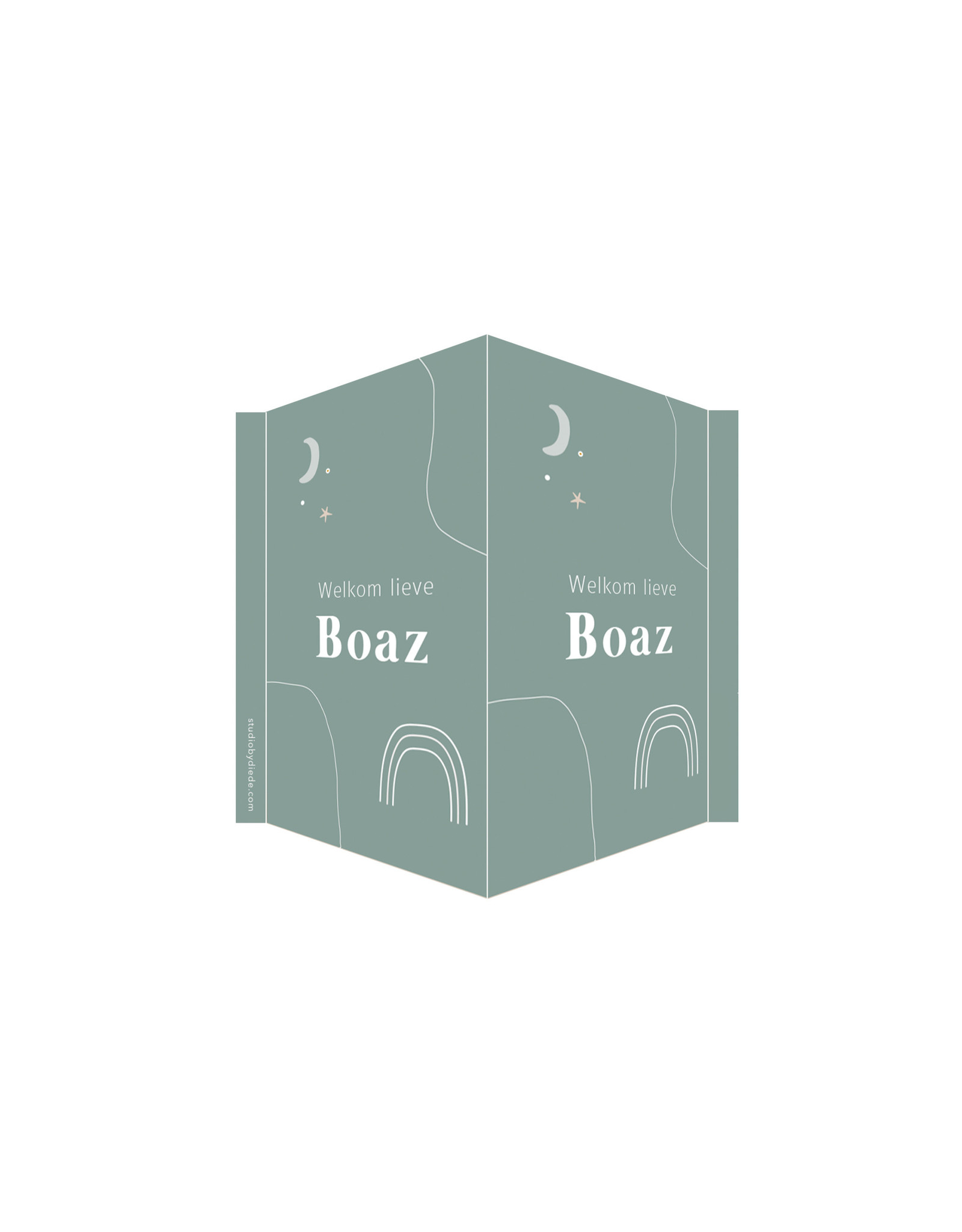 studiobydiede Geboortebord Boaz