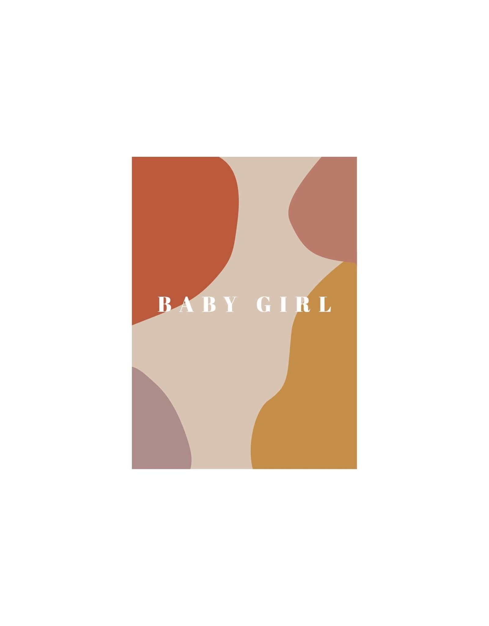 studiobydiede Wenskaart baby girl