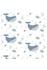 Hip Huisje Behang walvis in de oceaan voor de kinderkamer