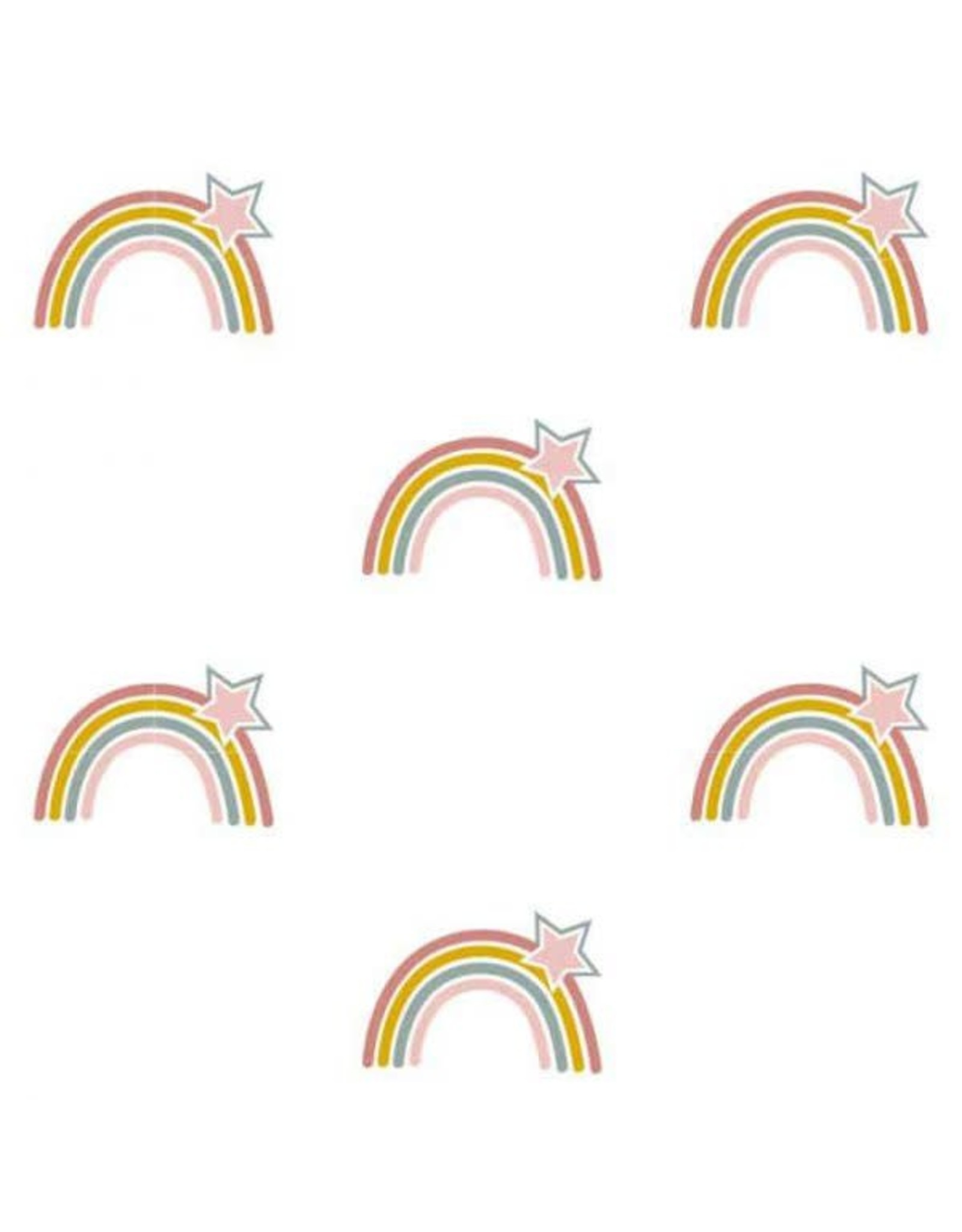 Hip Huisje Behang regenbogen en sterren print