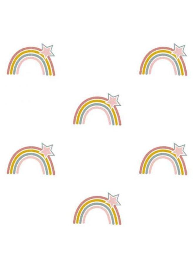 Behang regenbogen en sterren print