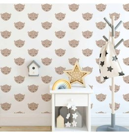 Hip Huisje Luipaard behang voor de kinderkamer