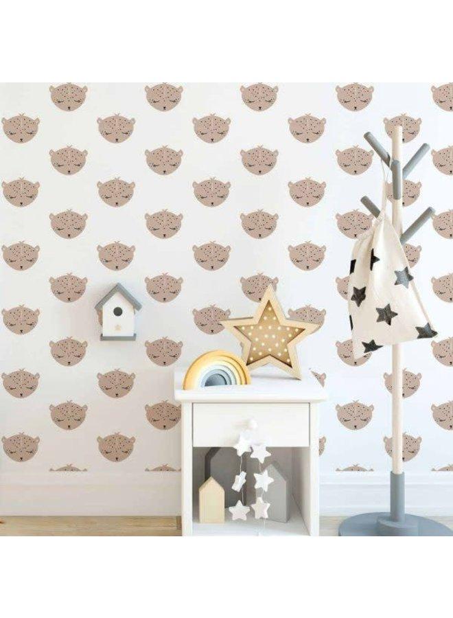 Luipaard behang voor de kinderkamer