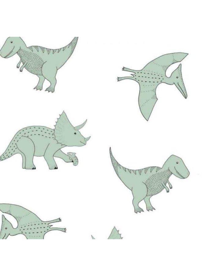 Dino behang groen