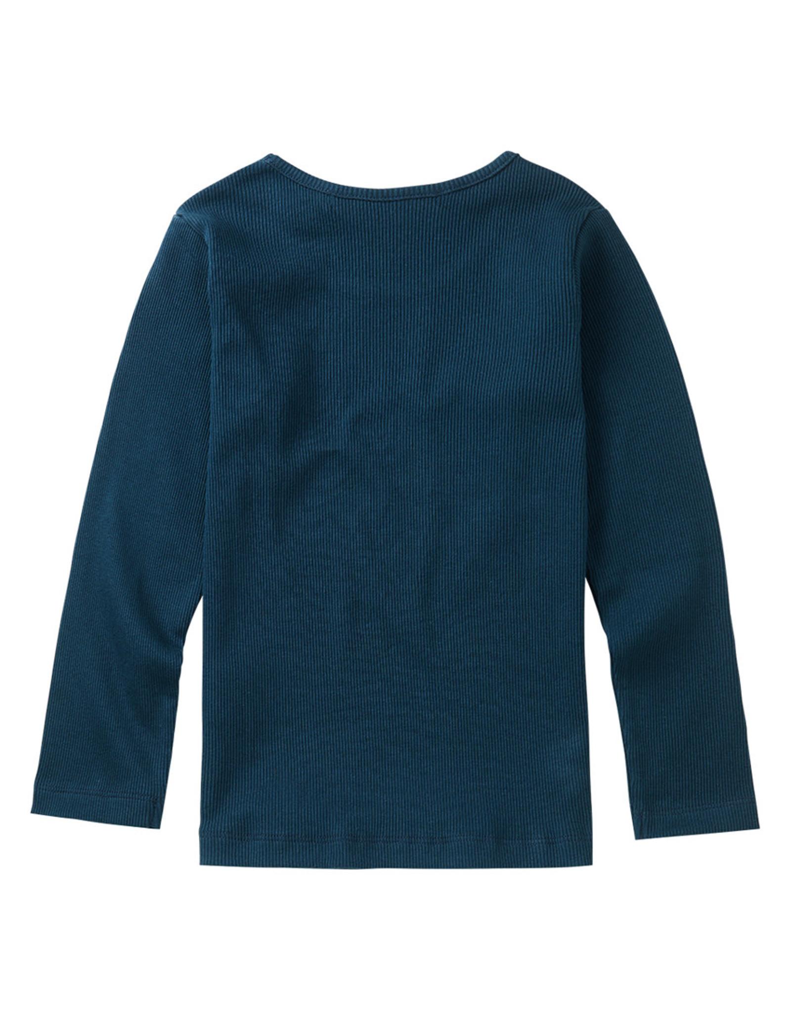 Mingo Longsleeve Teal Blue (rib)