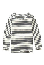Mingo Longsleeve stripes black/white (rib)