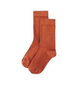 Mingo Socks terracotta/ginger (rib)