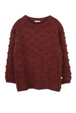 Ammehoela knit sweater Dottie brick