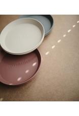 Mushie Mushie Plates Round Vanilla