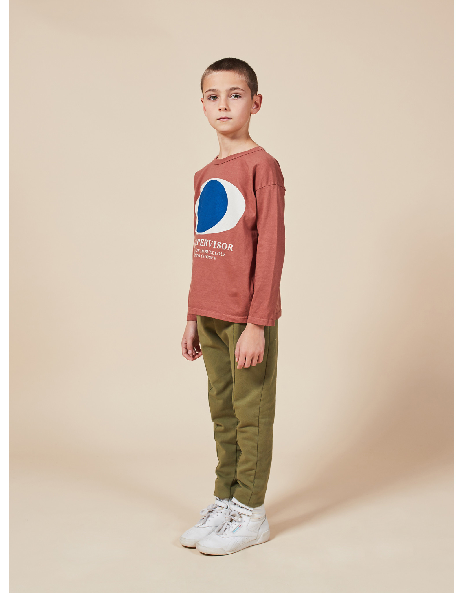 Bobo Choses Multicolor stripes embroidery pants